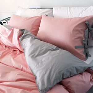 Cozy pink&gray bedding set